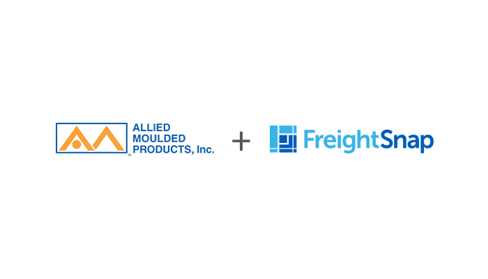 Allied Moulded Products logo and FreightSnap logo side by side.