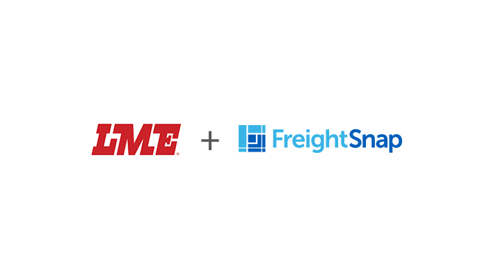 LME Trucking logo and FreightSnap logo.
