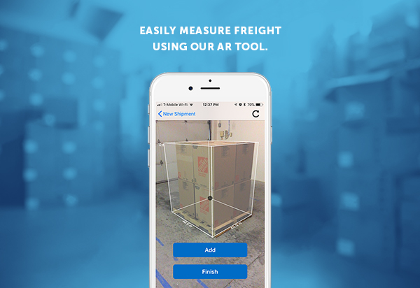 FS Mobile AR Measure screen