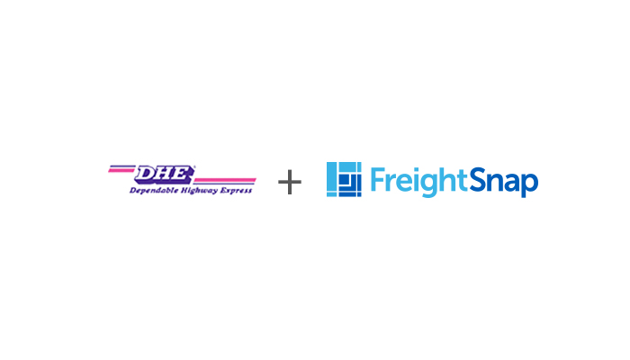 Dependable Highway Express logo and FreightSnap logo.