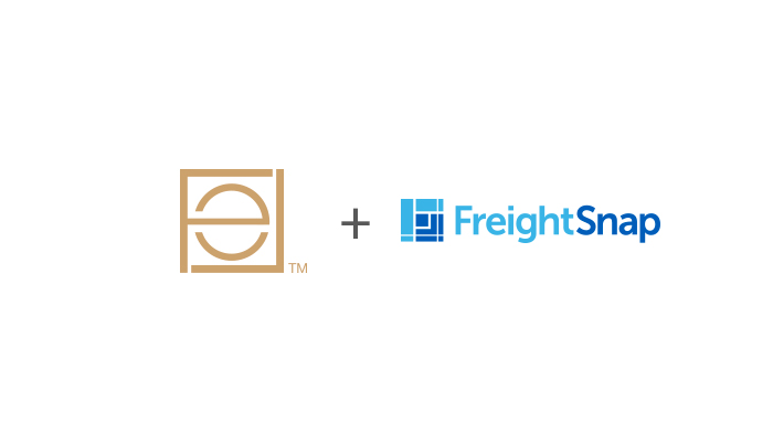 Elegant Lighting logo and FreightSnap logo.