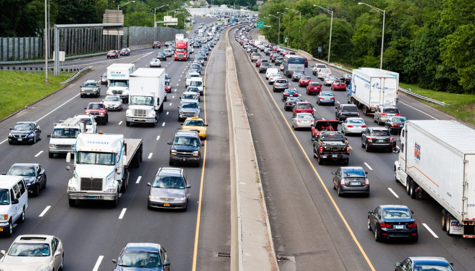 Heavy interstate traffic.